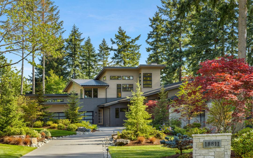 Stunning Estate Living in Sammamish with Lake Views and Dock Access